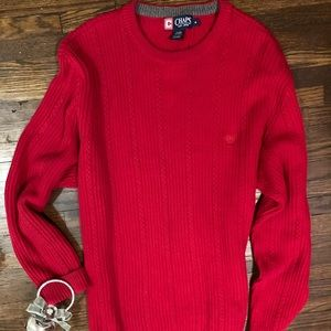 Red Christmas Sweater by Chaps Ralph Lauren